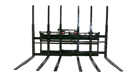 Six-fork positioners for multi-pallets (TPS)